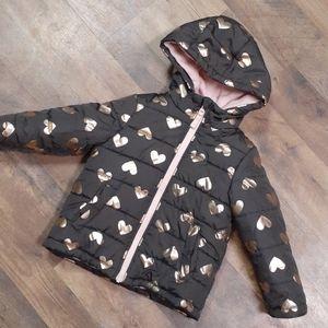 Puffy shimmering Heart Winter Jacket